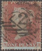 1854 1d Red SG17 Plate 166 'MH'